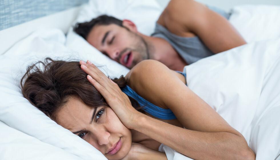 """SNORKING: Det er spesielt en type """"trening"""" som kan ha gunstig effekt på snorking. FOTO: NTB Scanpix"""