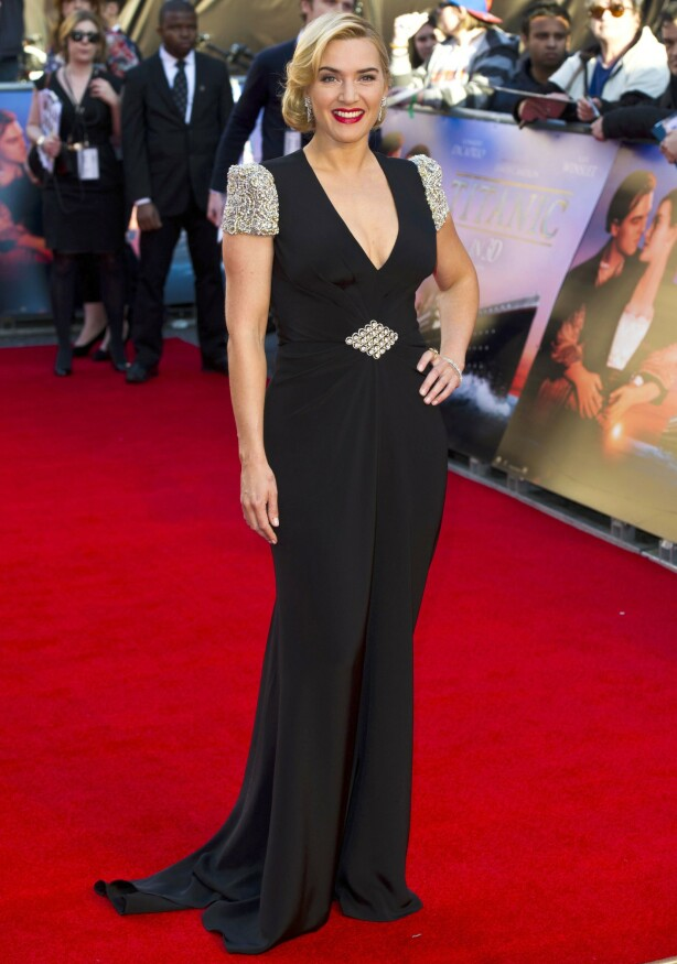 STJERNEKVALITET: Kate Winslet under premieren av «Titanic 3D» i Royal Albert Hall i 2012, 15 år etter at filmen hadde premiere i 1997. FOTO: NTB Scanpix