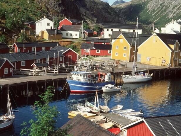 LOFOTEN: Rorbuferie i vakreste Nusfjord. Foto: NTB Scanpix