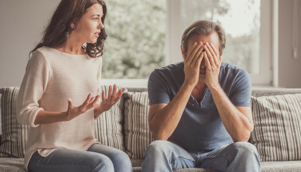 SNAKK OM DET: Ulike behov for å være sammen kan føre til konflikt. Det er viktig at man snakker om det på en ordentlig måte, ifølge samlivsterapeuter. FOTO: NTB Scanpix