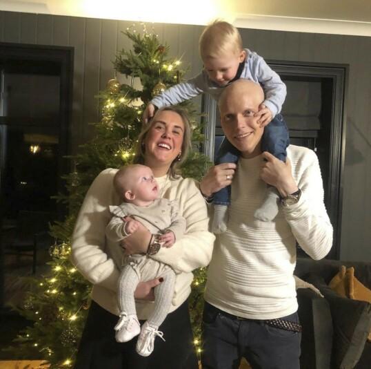 <strong>HVERDAGEN ER BLITT FEST:</strong> Martine er full av beundring for hvordan Bjørn Einar har taklet det han har vært gjennom. FOTO: Privat