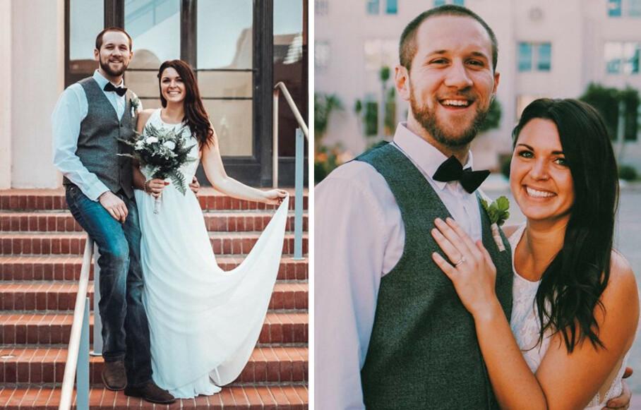 <strong>FANT HVERANDRE:</strong> Chantal Melanson og Austin Monfort er overlevende etter terrorangrepet i Las Vegas i 2017. To år senere ble de gift. FOTO: Privat