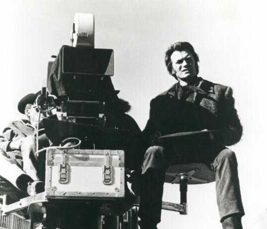 AND ACTION: Clint Eastwood i sjefsstolen på filmsettet. FOTO: NTB Scanpix