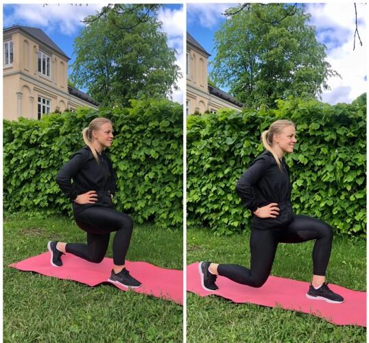 UTFALL: En kjempegod øvelse som involverer mange av de store muskelgruppene i bena. FOTO: Torp & Co