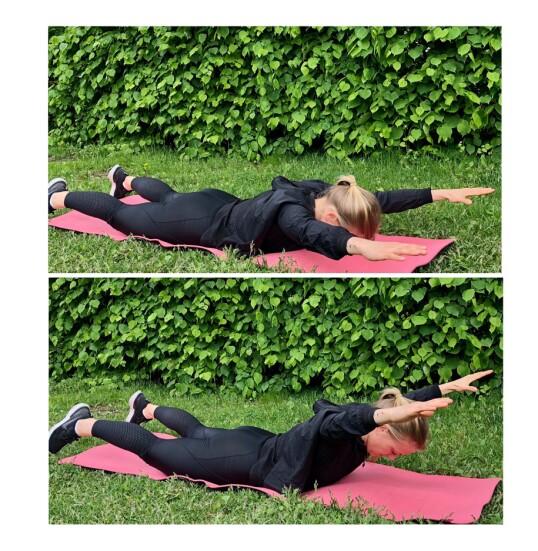 <strong>RYGGHEV:</strong> En effektiv øvelse som trener hele baksiden av kroppen. FOTO: Torp &amp; Co