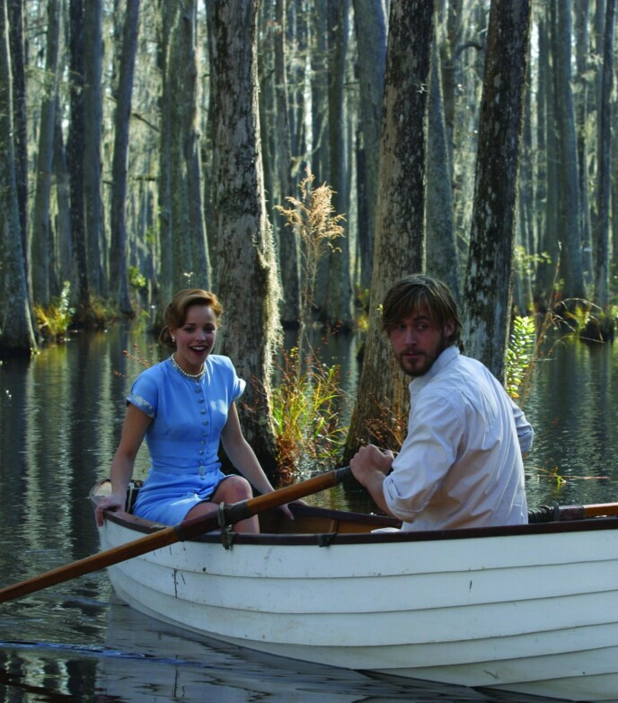 RACHEL MCADAMS OG RYAN GOSLING: Skuespillerne spilte Allie og Noah som unge. Foto: Snap Stills/REX