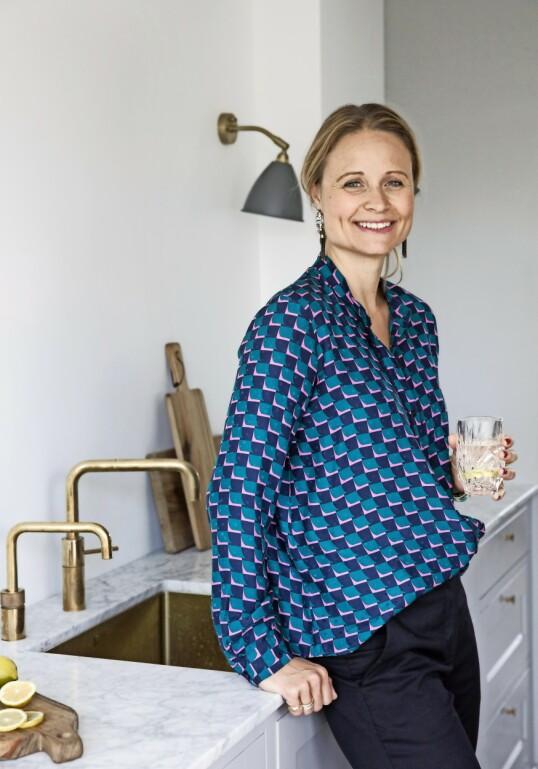 Kathrine vokste opp med en far som var møbelsnekker, og fikk forståelsen av kvalitet i interiøret inn med morsmelken. FOTO: Kira Brandt