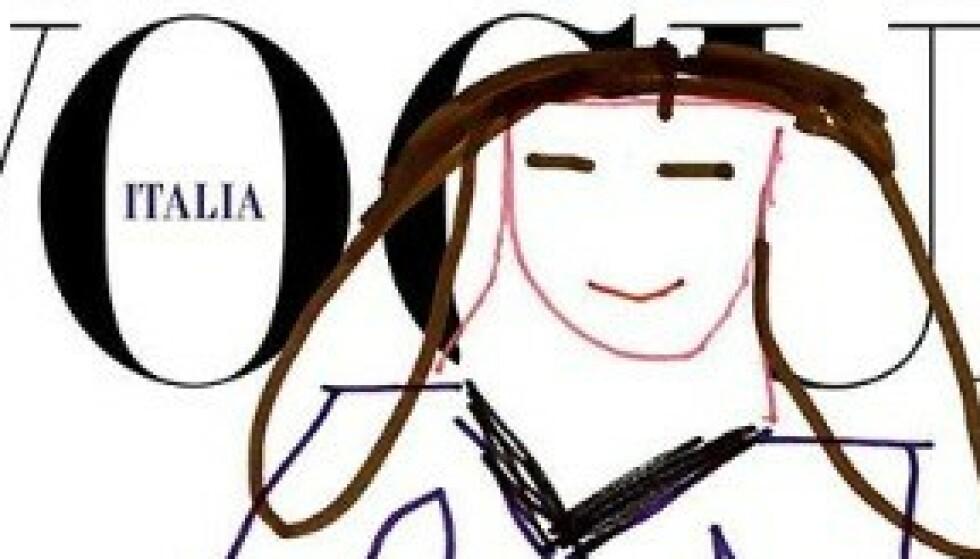 Vogue lar toåring tegne forsiden