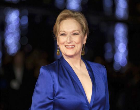 ELSKER WILL: Meryl Streep på en gala i 2017. Håper hun muligens på å få en god latter med Will Ferrell, om hun treffer ham? FOTO: NTB Scanpix