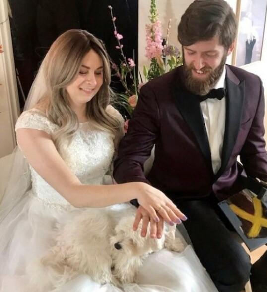 GIFT: Endelig ble Franz og Anne mann og kone! FOTO: Privat