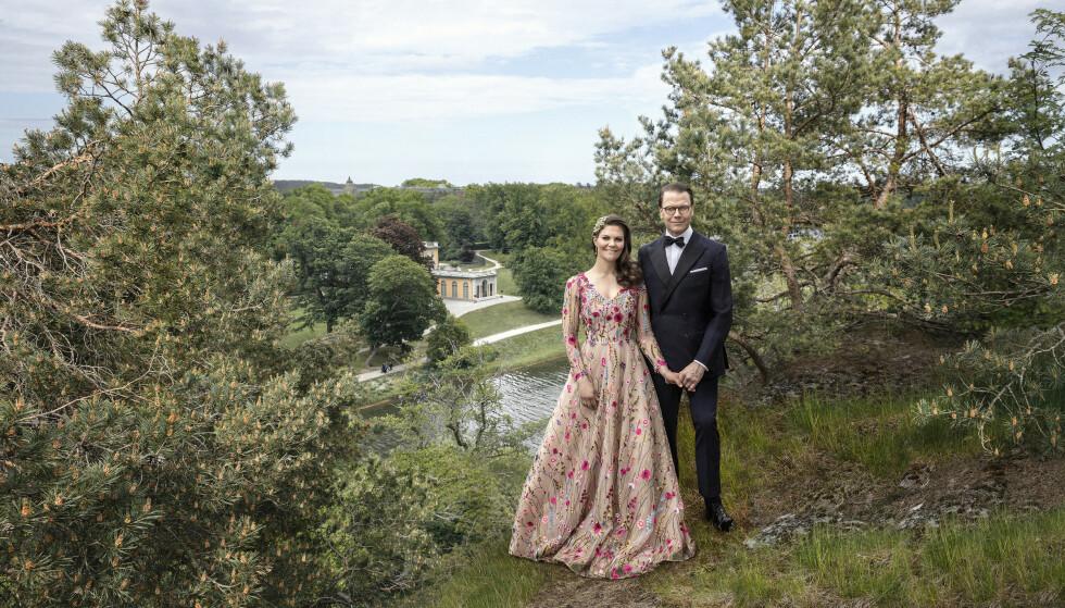 HAGA SLOTT: Kronprinsesse Victoria og prins Daniel kan feire 10 år som mann og kone. FOTO: Elisabeth Toll/Kungl. Hovstaterna