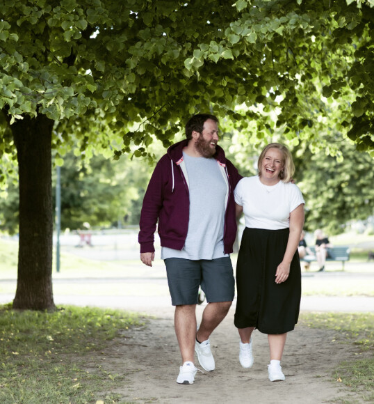 HOLDT FORHOLDET HEMMELIG: Det tok lang tid før Tuva og Ronny avslørte at det var et par til kollegene i P3. FOTO: Astrid Waller