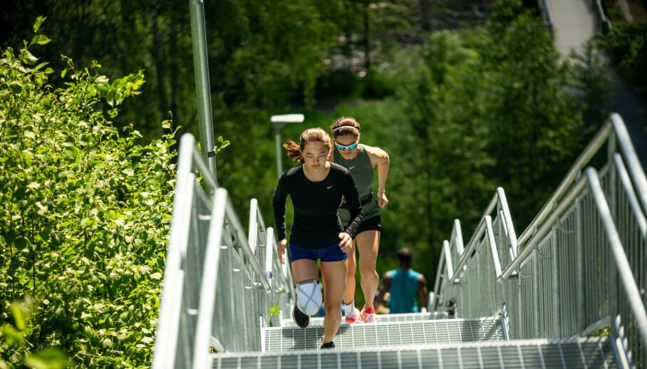 <strong>SPORTY:</strong> Caroline trener opptil seks ganger i uka.