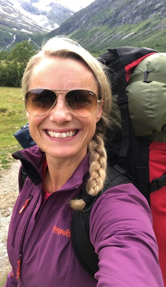 NATUREN SOM LEKEPLASS: - Vi er veldig glade i å feriere i Norge, forteller Silje Sandmæl til KK. Og understreker at man ikke trenger å reise langt for å oppleve noe nytt. Foto: Privat