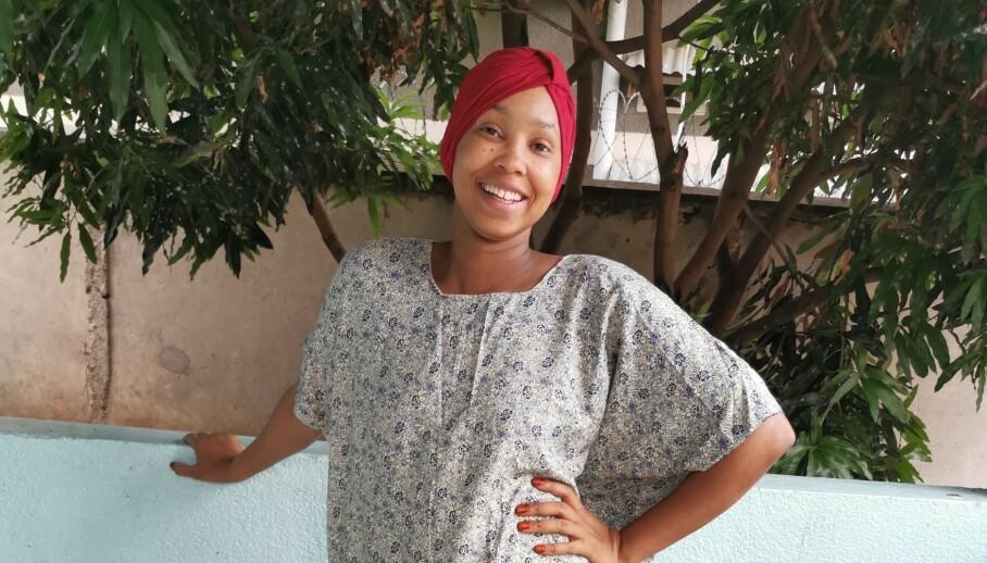 MÅTTE FLYKTE: Nå hjelper Aisha kvinner i hjemlandet med å komme seg i jobb og på skole. FOTO: Privat
