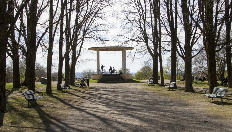 DOBBELT OPP: Torshovparken er naboen til Torshovdalen - begge store parkanlegg. Den er anlagt på 1920-tallet og har en fin musikkpaviljong som visuelt midtpunkt. FOTO: Erik Valebrokk