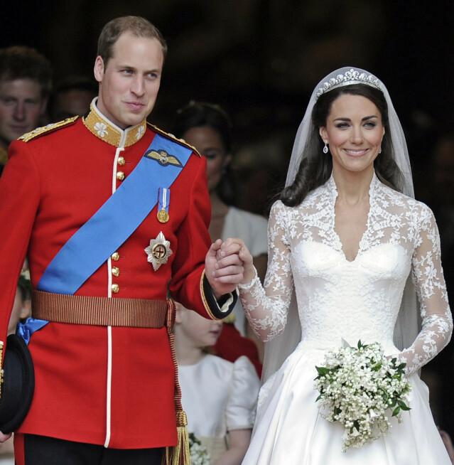 LYKKELIG GIFT: William og Kate er fremdeles gift, ni år etter bryllupsdagen. Foto: NTB Scanpix