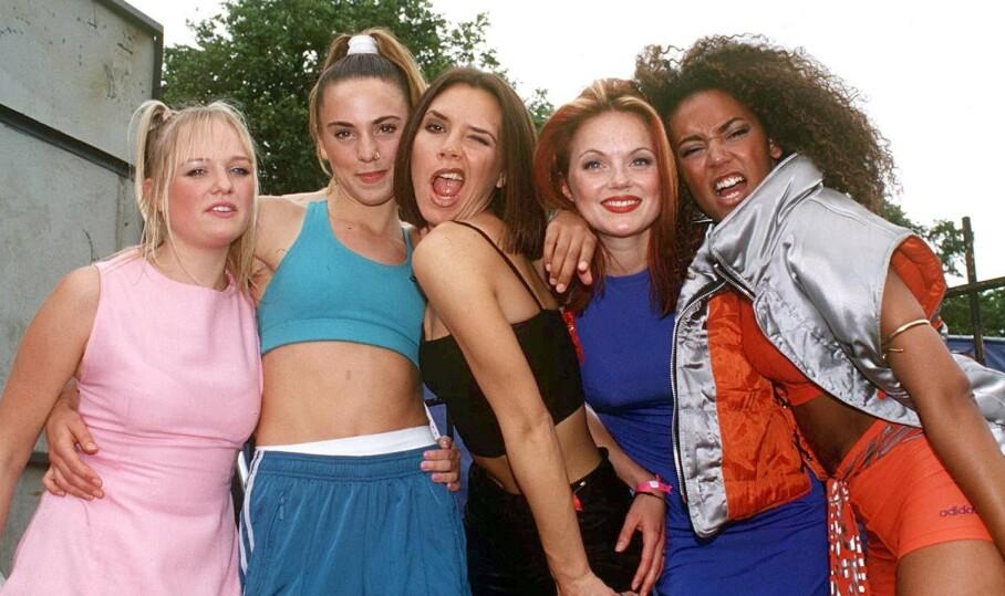 <strong>90-TALLETS STJERNER:</strong> Emma Bunton (f. v.), Melanie Chisholm, Victoria Beckham, Geri Halliwell og Melanie Brown utgjorde popfenomenet Spice Girls. FOTO: Scanpix