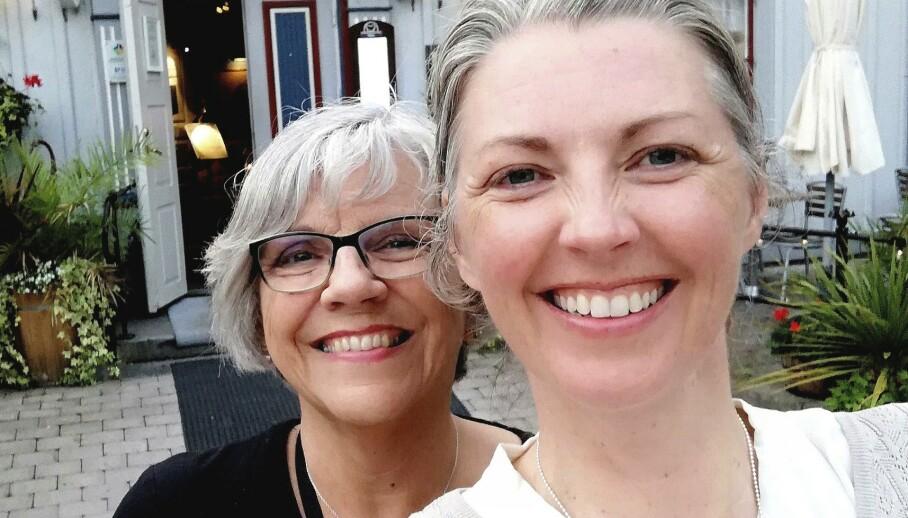 Skribent Katarina Danielsson med sin mor Kristin. Like som bare det når det kommer til interesser og livsstil – og mer og mer like i speilbildet også. FOTO: Privat