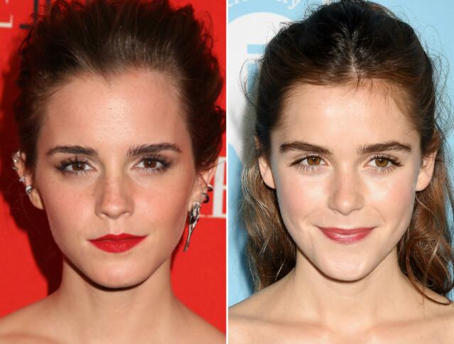 Emma Watson (t. v.) og Kiernan Shipka er begge unge stjerneskudd. FOTO: Scanpix