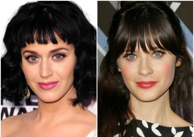 Artist Katy Perry (t. v.) og «New Girl»-skuespillerinne Zooey Deschanel. FOTO: Scanpix