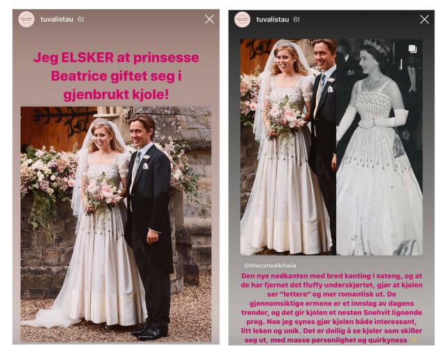 Valgte bestemors gamle kjole som brudekjole