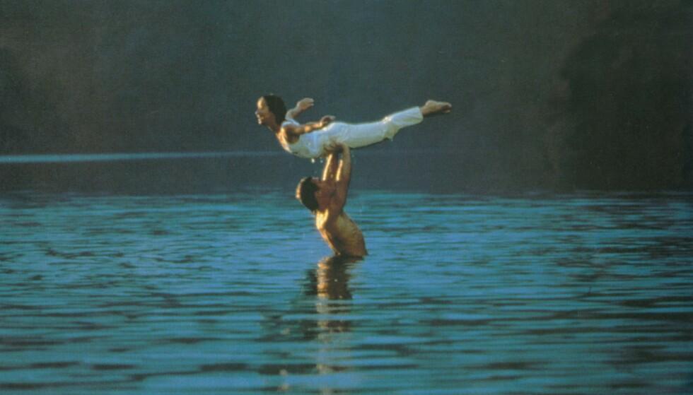 DIRTY DANCING: Dette løftet gjorde skuespillerne Patrick Swayze og Jennifer Grey i Mountain Lake i Virgina. Foto: NTB Scanpix