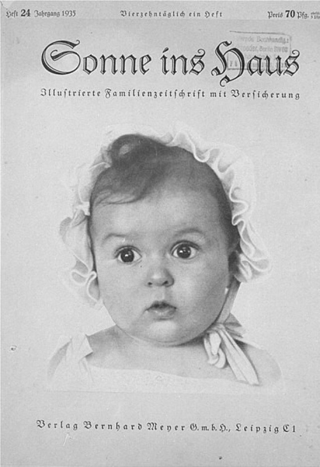 <strong>FAKSIMILE:</strong> Slik så utgaven av nazimagasinet Sonne ins Haus ut. Det ble publisert i 1935, og var et av få lovlige magasiner på den tiden. FOTO: Wikimedia Commons