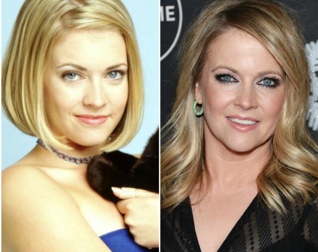 FØR OG NÅ: Til venstre er Hart slik vi husker henne best, som rollefiguren Sabrina Spellman, og til høyre er hun avbildet tidligere i år. FOTO: ABC/Scanpix