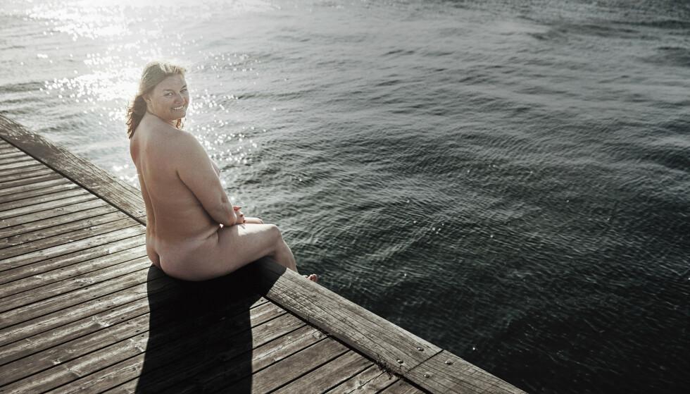 KROPP: – Siste veide jeg 82 kilo, nå veier jeg vel 92, jeg vet ikke. I don't know, I don't care. Det som interesserer meg, er om jeg har det bra, sier Michelle. FOTO: Ulrik Jantzen