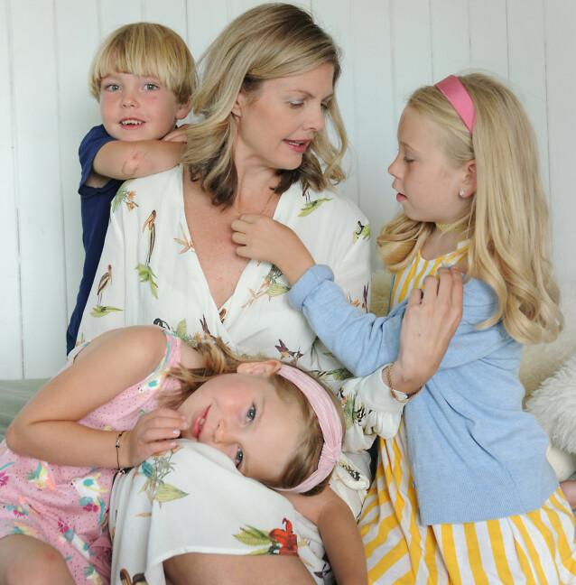 PLUTSELIG TREBARNSMOR: Erin gikk fra et singelliv med masse jobb til et familieliv med masse barn. FOTO: Marianne Otterdahl-Jensen
