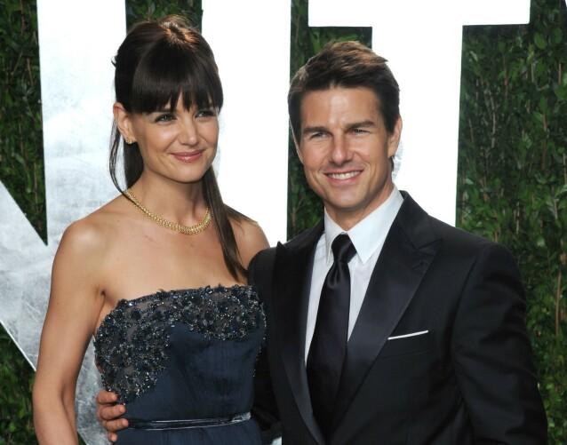 DEN GANG DA: Katie Holmes og Tom Cruise under Oscar-utdelingen i 2012, mens de ennå var et par. Kort tid senere var skilsmissen et faktum. FOTO: NTB scanpix