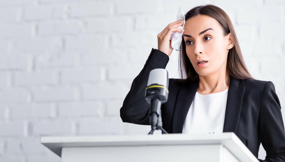 TA EN TYGGIS: Forskere har gjort overraskende funn om nervøse kroppsreaksjoner. FOTO: NTBScanpix
