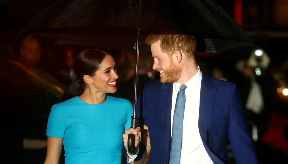 OPPDRAG: Meghan og Harry på en Endeavour Fund Awards i London i mars 2020. FOTO: REUTERS/Hannah McKay/NTBScanpix