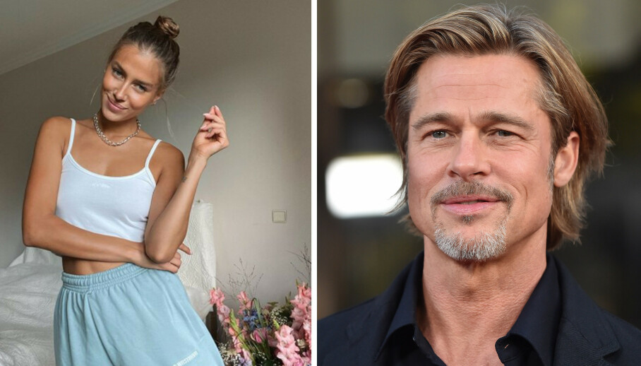 BRAD PITT: Det spekuleres i om Hollywood-kjekkasen Brad Pitt har funnet lykken på ny med den tyske modellen Nicole Poturalski, etter at de to ble observert sammen på hans privatfly i retning Sør-Frankrike. FOTO: Skjermdump Instagram / NTB scanpix