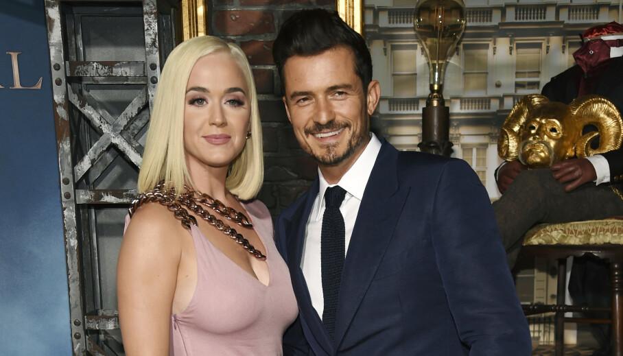 NYBAKTE FORELDRE: Katy Perry og Orlando Bloom fikk nylig sitt første barn sammen. Foto: NTB Scanpix