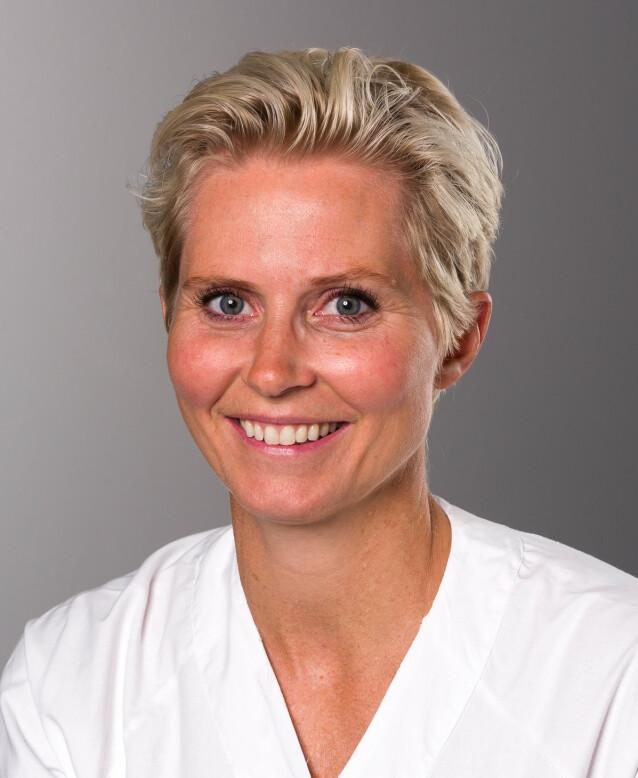 FAGEKSPERT: Overlege Jannicke Andresen ved Nyfødtintensiv på Rikshospitalet, Oslo Universitetssykehus. FOTO: OUS.