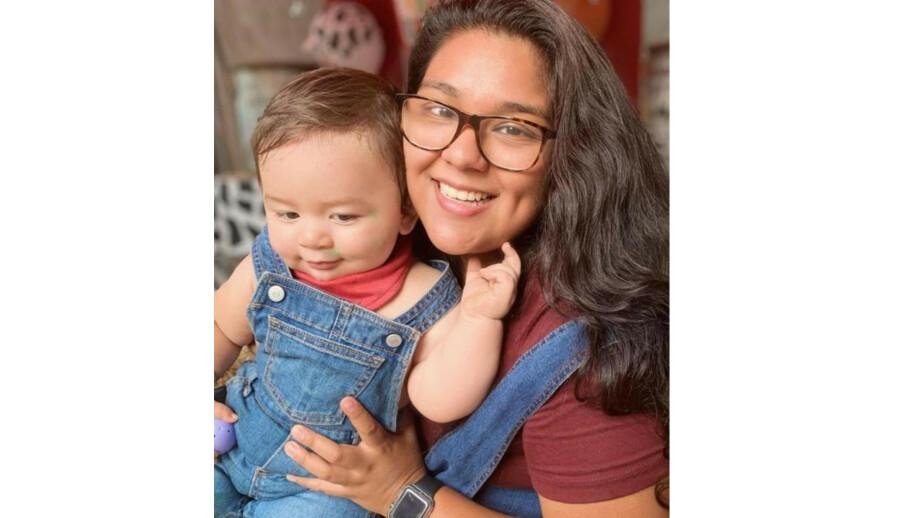 KIDNAPPING: Den lille gutten ble revet ut av barnevognen, da hans mor gikk på trilletur med ham i Georgia, USA. FOTO: FBI Atlanta // Twitter