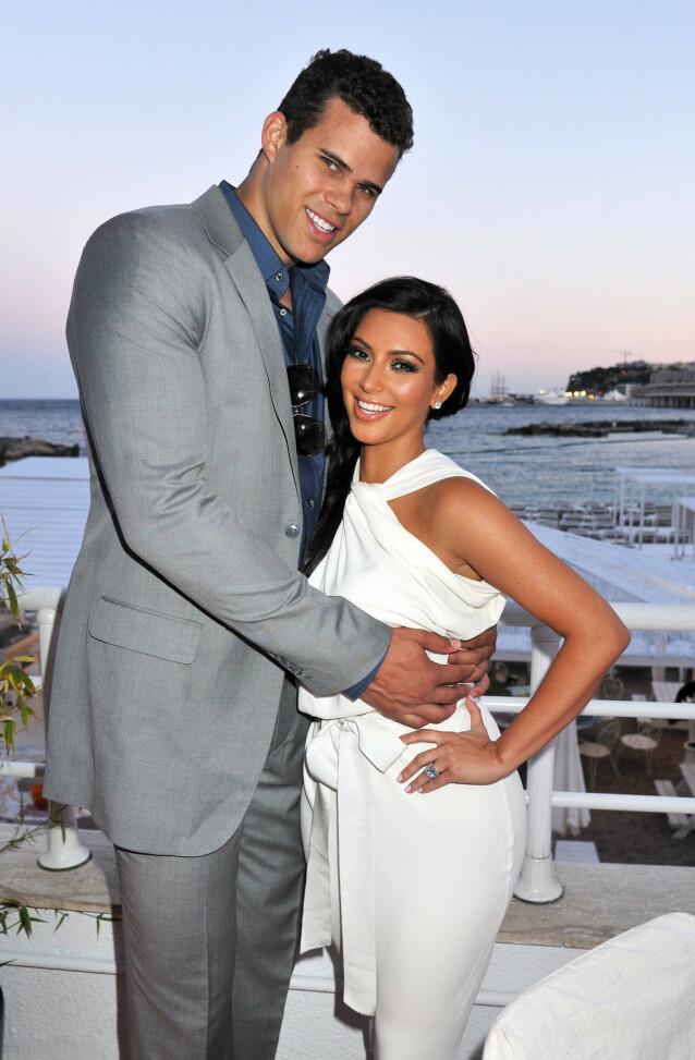 GIFT I 72 DAGER: Kris Humphries og Kim Kardashian. Foto: NTB Scanpix