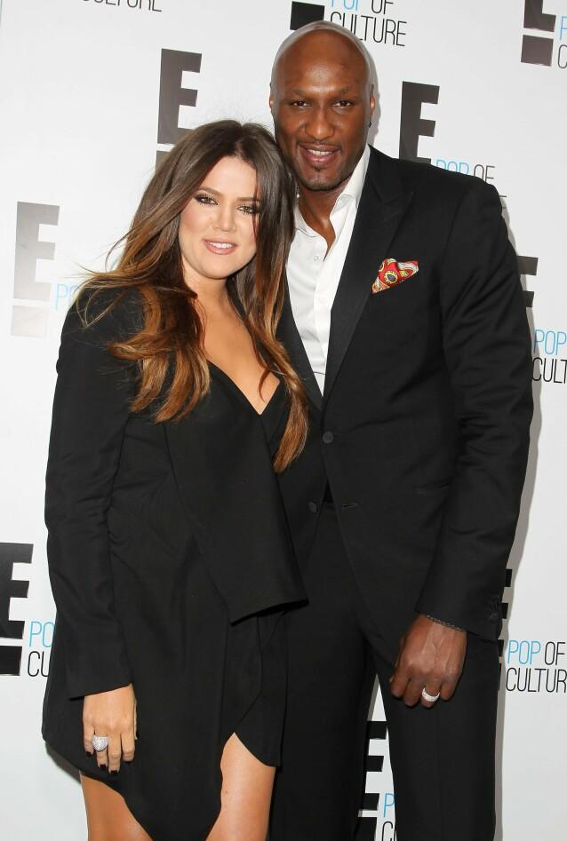 Khloe Kardashian og Lamar Odom. Foto: NTB Scanpix
