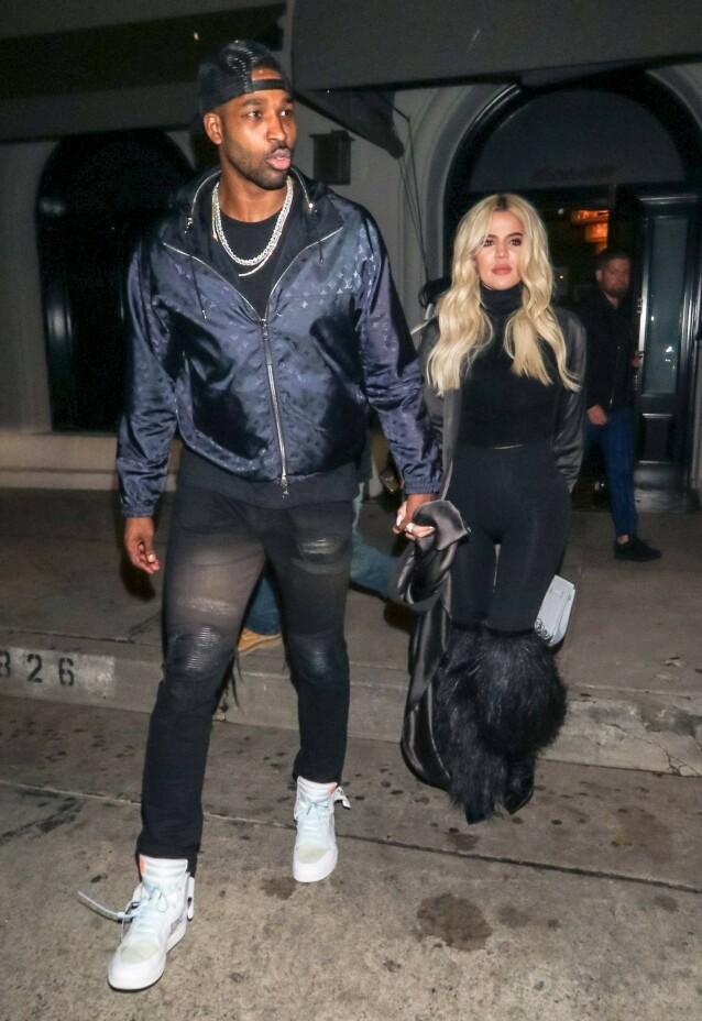 Tristan Thompson og Khloe Kardashian. Foto: NTB Scanpix