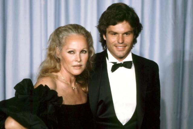 SWEET SIXTEEN: Ursula Andress og Harry Hamlin på en fest i 1982. Ursula var 16 år eldre enn Harry, og sammen hadde de sønnen Dimitri, som da var to år. FOTO: NTBScanpix