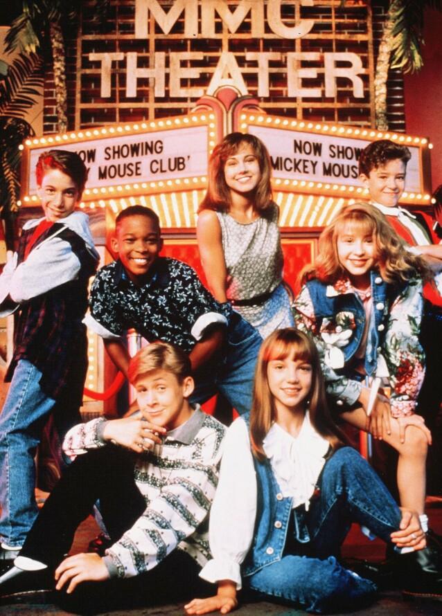 MICKEY MOUSE CLUB: Kjenner du igjen noen av stjernene? Foto: NTB