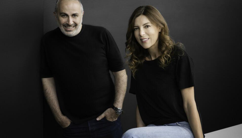 GRUNNLEGGERNE: Faramsøyten Giorgos Korres og kjemiingeniøren Lena Korres.