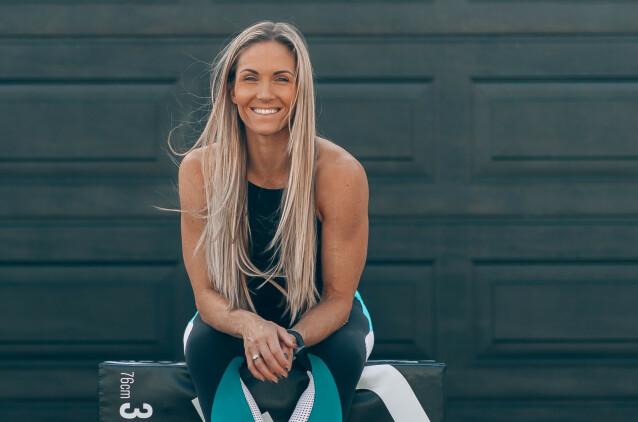 SKAPER FELLESSKAP: Økt motivasjon og fellesskap er to av årsakene til at Camilla Aastorp Andersen er positiv til sosiale treningsnettverk. FOTO: Privat
