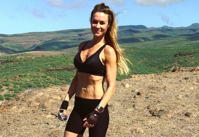 IVRIG BRUKER: Theresa Lyng-Jørgensen deler gjerne sine løperesultater med følgerne i appen Strava, men ser også at det hos noen kan ta litt overhånd. FOTO: Privat
