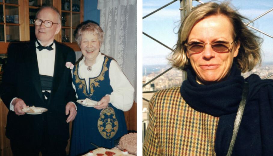 ORDERUD-SAKEN: Anne Orderud Paust (t.h.) og foreldrene Kristian og Marie Orderud ble drept på Orderud gård natt til pinseaften 22. mai 1999. Den dag i dag står drapsgåten ubesvart. Høsten 2020 kom ny bok om det ubesvarte mordmysteriet. FOTO: NTB