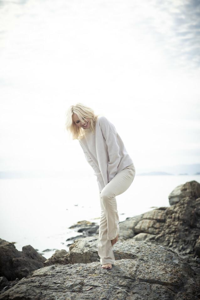 LYKKEGLIMT: - Jeg trenger nok mer hvile nå enn for ti år siden, innrømmer Linda. Og det syns hun er helt greit. Foto: Astrid Waller