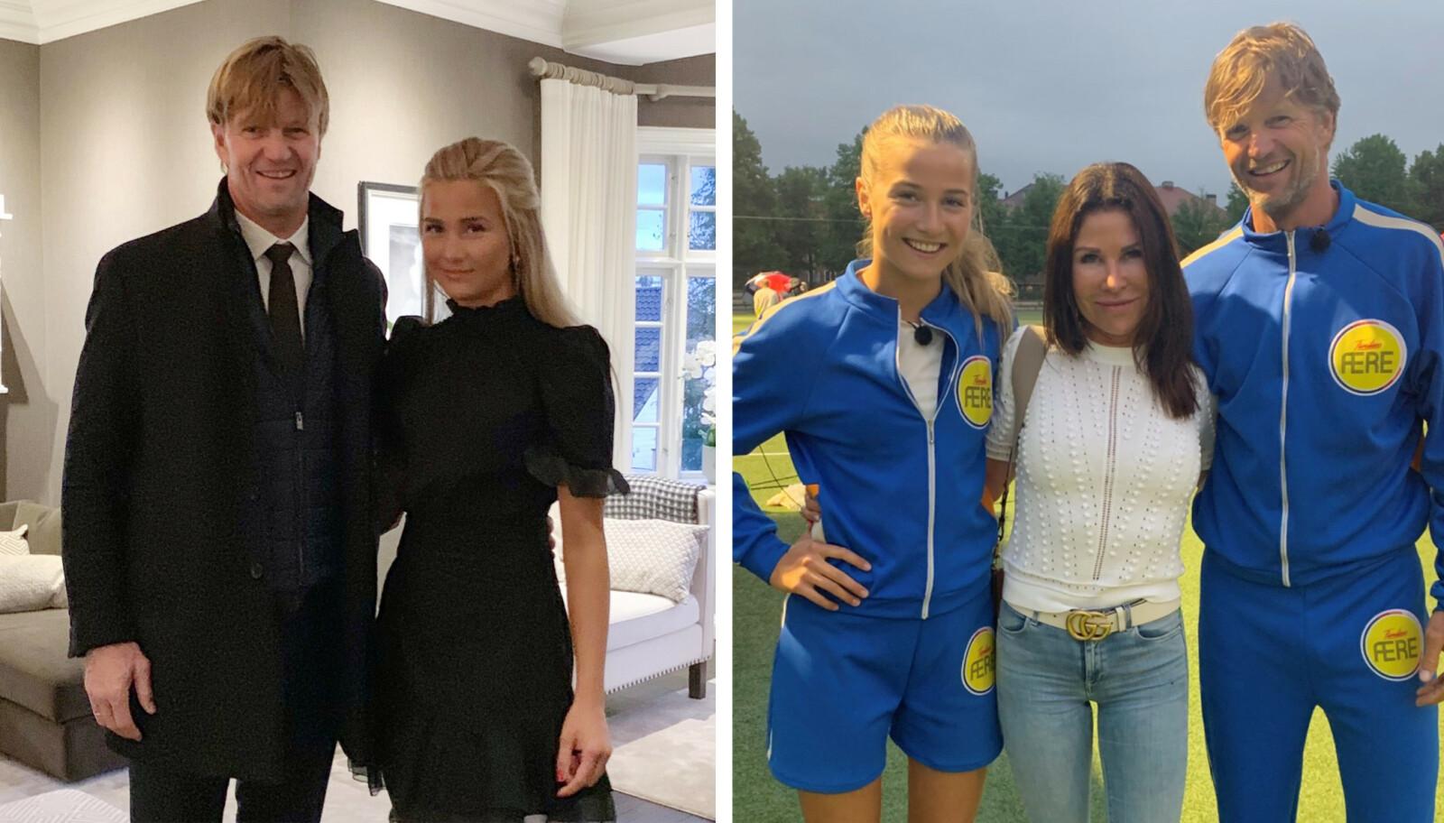 KONKURRANSEINSTINKT: Birgitte er vokst opp med både foreldre og søsken som elsker å konkurrere. Her med mamma og pappa Linda og Bjørn Maaseide. FOTO: Privat