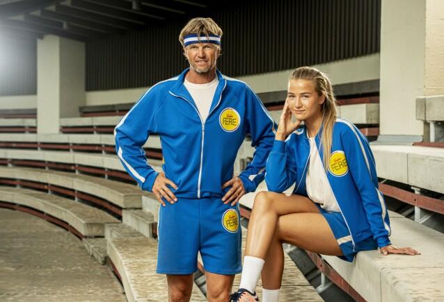 GIR ALT: Far-og-datter-duoen Bjørn og Birgitte Maaseide ga alt under innspilling av NRK-programmet Familiens ære. FOTO: Per Heimly / Nordisk Film TV / NRK